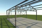 Rešetkasta konstrukcija krov na dve vode